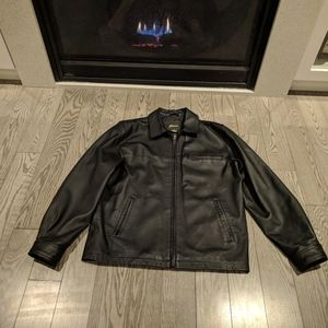 🍀🍀🍀Genuine leather black jacket man penmans
